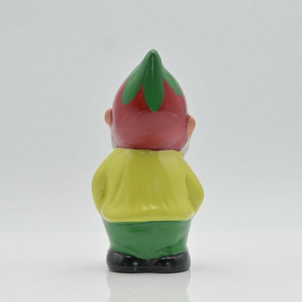 """Zwerg """"Bert mit Erdbeere"""" fotografiert in Rückansicht"""