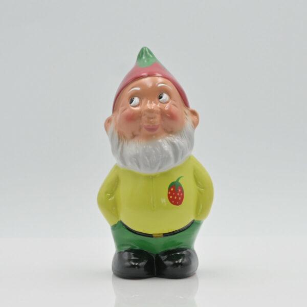 """Zwerg """"Bert mit Erdbeere"""" fotografiert in Vorderansicht"""