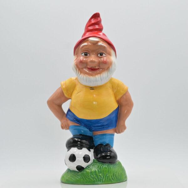 """Zwerg """"Dominik der Fußballer"""" in Vorderansicht fotografiert"""